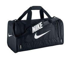 d00a119b14b4c Nike Brasilia 6 Duffel Bag Black White Size Medium Head off to the gym or  team practice with the NIKE Brasilia 6 medium duffel bag.