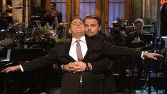 Last night, Leonardo DiCaprio crashed Jonah Hill's SNL monologue and recreated 'Titanic.'