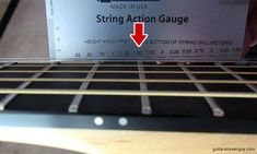 Measure the height of the high E string