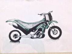 Kawasaki 250 stippling