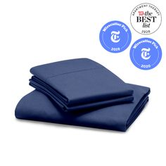 Percale Sheet Set: 1 Fitted Sheet and 2 Pillowcases | RiLEY Hotel Sheets, King Sheets, Fine Hotels, Percale Sheets, Flat Sheets, Twin Xl, Sheet Sets, Pillow Cases, Cool Stuff