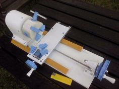 Mini Lathe by Branez -- Homemade mini lathe 3D-printed from PLA plastic. http://www.homemadetools.net/homemade-mini-lathe-2