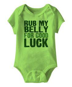 Key Lime 'Rub My Belly' Bodysuit - Infant