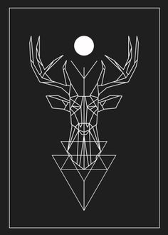 GEOMETRIC DEER Art Print                                                                                                                                                                                 More