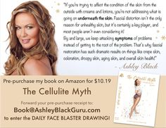 "My book ""The Myth of Cellulite"" is LIVE on Amazon for pre-sale!!! GET YOUR BOOK HERE:  www.amazon.com/gp/product/1682612880/ Price: 10.19  With each pre-purchase of a book, you will have one chance to win a FREE FaceBlaster!!!!  You will get a confirmation email. FORWARD that email to: Book@AshleyBlackGuru.com The winner of the daily FaceBlaster drawing will be announced every day at 8pm in the ""FasciaBlasters"" FaceBook group! www.facebook.com/groups/FasciaBlasters Make sure to join so you…"