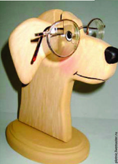 Статуэтки ручной работы. Ярмарка Мастеров - ручная работа. Купить Подставка для очков - СОБАКА. Handmade. Желтый, очки, собака, собачка