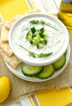 Super easy and delicious homemade Tzatziki Sauce Recipe. Great as a healthy dip, sauce for grilled meat, or spread for sandwiches. Thick, rich and creamy. Flavored with garlic, lemon and dill. Amazing! I love Mediterranean food. All the healthy, fresh, delicious ingredients and flavors. It's the kind of food you can feel good about eating! Growing up, I … Continue reading →