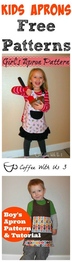 Looking for a great DIY gift for any kids on your Christmas list?  These easy to sew aprons are great!  Plus the Patterns are free!