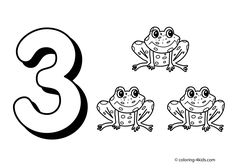 3 numbers coloring pages for kids printable free digits coloring books