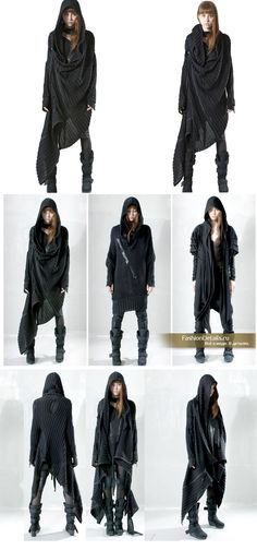 Demobaza clothing- really like how these are draped and the shapes formed