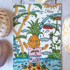 【daiki_painting_room】さんのInstagramをピンしています。 《My dream is to make everyone smile by my paintings. 🍍Pineapple boy in Hawaii ハワイの パイナップルくん #Hawaii #summer#summer holiday #happy #beach #smile #pineapple #sun #sea #ハッピー #夏休み #夏 #パイナップル #ハワイ#笑顔#海#ビーチ》