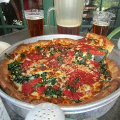 Come for the pizza, stay for the beer.
