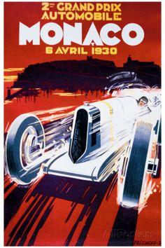 Grand Prix de Monaco, 1930 Giclee Print by Robert Falcucci at AllPosters.com
