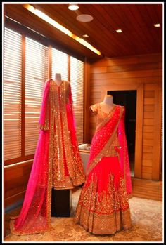 Omg omg.! Crazy beauty of colours.! Lovely, beautiful, classy. Loving that lengha!