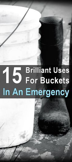 15 Brilliant Uses for Buckets in an Emergency. In a long-term disaster you can use them for all sorts of other things. This post describes 15 uses for buckets, and after you read it you'll never throw a bucket away again. Urban Survival, Homestead Survival, Survival Prepping, Survival Gear, Survival Skills, Emergency Planning, Bushcraft Skills, Emergency Management, Survival Hacks