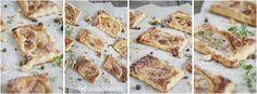 Ciastka francuskie z korzennym miodem, gruszkami i orzechami nerkowca