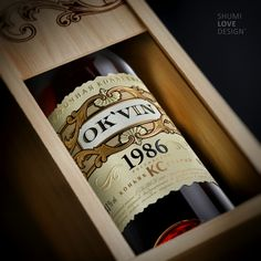 """OK`VIN"" - Premium cognac - http://shumilovedesign.eu/portfolio/directions/packaging-20"