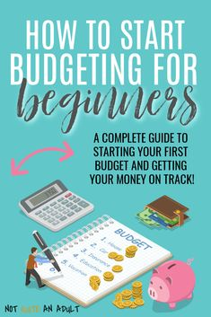 Budgeting for Beginners: A 7 Step Guide To Success - Not Quite an Adult - Finance tips, saving money, budgeting planner Making A Budget, Create A Budget, Budget Help, Budgeting Finances, Budgeting Tips, Financial Tips, Financial Planning, Financial Assistance, Financial Peace