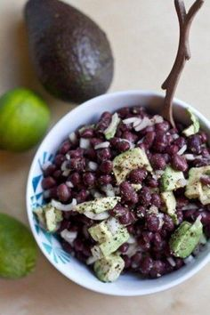 Avocado-Lime Black Bean Salad  This remind me my beautiful daughter, the kind of food that we enjoy.