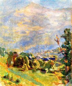 : Pierre Bonnard - Landscape, Green Harmony, circa 1915