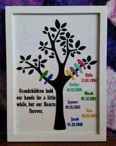 Grandparent Family Tree Frame