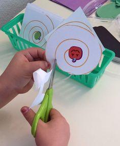 Halloween Activities in the Preschool Classroom - Scissor Work