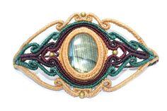 Bracelet macramé avec Labradorite et bronze, Beige, bijoux macramé, Macrame bracelet, Bracelet macramé, Hippie, femelle, mode, unique                                                                                                                                                                                 More