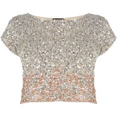 Stand-out and sparkle in our stunning hand beaded Iridesa Top. The graduated all over sequins and on trend cropped style makes this a true eye-catcher, perfect…