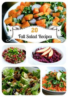 20 Seasonal, Satisfying Fall Salad Recipes @Paige Hereford Hereford Hereford Smith we need to try some of these. #chickensalad #chicken #salad #salads
