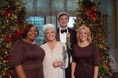 Paula and members of the Savannah Philharmonic chorus. Downtown Savannah, Savannah Chat, Tybee Island, Paula Deen, Our Lady, Behind The Scenes, Georgia, Celebrities, Foods