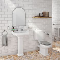 The Leby Traditional 4 Piece Bathroom Suite Wooden Soft Close Seat Perfect