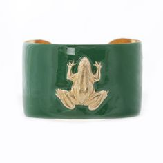 Wimberly Inc. kelly green frog cuff