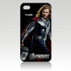 Chris Hemsworth Thor the Avengers Hard Case Cover for Iphone 4 4s 4th Generation - Free Plastic Retail Packaging Box
