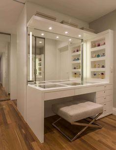 beautiful dream closet makeover in your dressing room 18 Bedroom Closet Design, Room Ideas Bedroom, Closet Designs, Bedroom Decor, Wardrobe Design, Blue Bedroom, Simple Bedroom Design, Dressing Table Design, Dressing Table Mirror