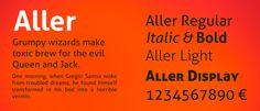 web fonts Aller