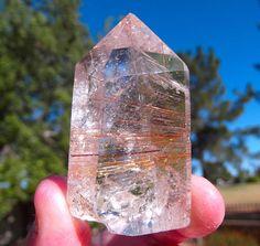 Golden Rutilated Quartz Crystal by Starshine Beads on Etsy