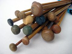vintage knitting needles..