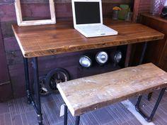 Barn Wood Beam Desk  Barn Wood Beam Desk  Barn Wood Beam Desk