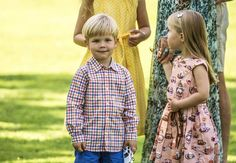 Annual photocall at Grasten Slot: Prince Vincent and Princess Josephine July 24, 2014