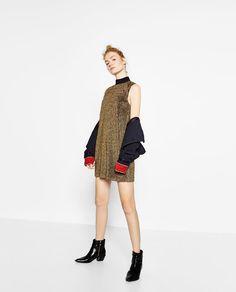 Image 1 of SHINY PLEATED DRESS from Zara