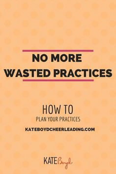 New goal: No more wasted #cheerleading practices.