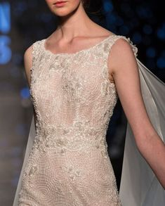 Lusan Mandongus | Let this shimmering beaded wedding dress sparkle your wedding!