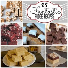 25 fantastic fudge recipes, milk chocolate, peanut butter, holiday, nuts, Caramel, Cinnamon, eggnog