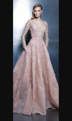This is one of my fav. Its light pink and its a long gown with.. sleeves