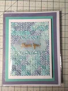 Embroidery stitches sewed on card.