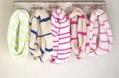 Simple strip infinity scarves