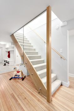 Custom stairway by Madeleine Design Group in Vancouver, BC. *Re-pin to your inspiration board*