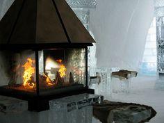 Ice table and stools -- Ice Hotel in Jukkasjärvi in Swedish Lapland
