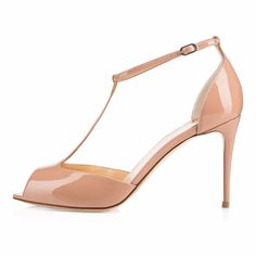 59.99$  Watch now - http://ai76u.worlditems.win/all/product.php?id=32793507103 - Women's 8cm High Heels T-strap Sandals Peep Toe Ankle Straps Stiletto Heel Ladies Comfortable Spring Summer Dress Shoes Black