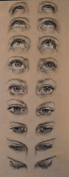 Drawing Eyes, Drawing Sketches, Pencil Drawings, Painting & Drawing, Art Drawings, Eye Sketch, Charcoal Drawings, Human Eye Drawing, Charcoal Drawing Tutorial